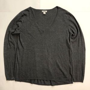 H&M CHARCOAL V-NECK SWEATER